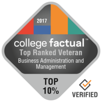 Top ranked major for student veterans badge