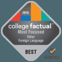 most focused college ranking badge