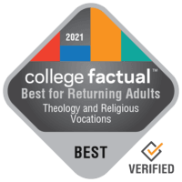 Best Theology & Religious Vocations Colleges for Non-Traditional Students in the Middle Atlantic Region